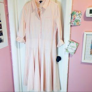 Ann Taylor Light Pink Button Down Dress